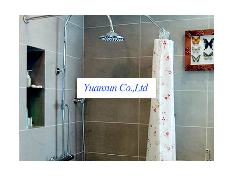 Thick L Shaped Shower Curtain Rod Seamless Interface Does Not Sag Curved Rods Of