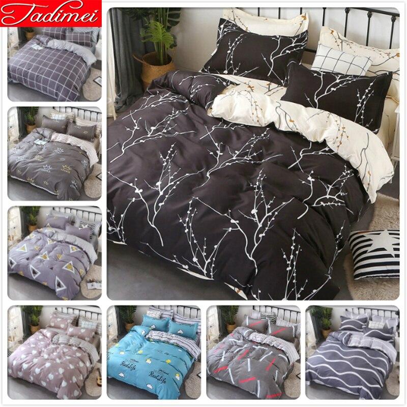 New Creative Quilt Comforter Duvet Cover Bedding Set Adult Couple Big Size Soft Bed Linen Queen King Bedspreads 200x230 220x240