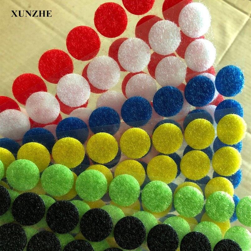 Liberaal 100 Pairs 10mm Meer Kleur Magnetische Nylon Coin Sticker Dubbele Zijdig Gaten Haken Loops Disc Ronde Pads Dot Fastener Kleermakers Diy