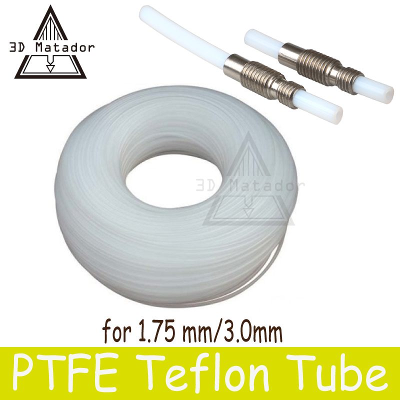 3D printer 1M 2*4mm 4*6mm PFA PTFE Tube Teflon PiPe J-head hotend RepRap Rostock Bowden Extruder for V5/V6 1.75MM/3.0mm Filament 3d printer all metal j head hotend with cooling fan ptfe tubing for 1 75 3 0mm v6 bowden wade extruder 0 2 1 0mm nozzle