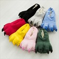 10 Color Candy Color Funny Animal Paw Slippers Cute Monster Claw Slippers Cartoon Slipper Warm Soft Plush Winter Indoor Shoes