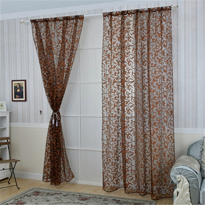 Classical China Style Floral Sheer Voile Curtain Chic Room