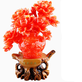 Free shipping The new Wedding business gifts Chinese  furnishing  best luck lucky absorption peony New Year decorations DECOR