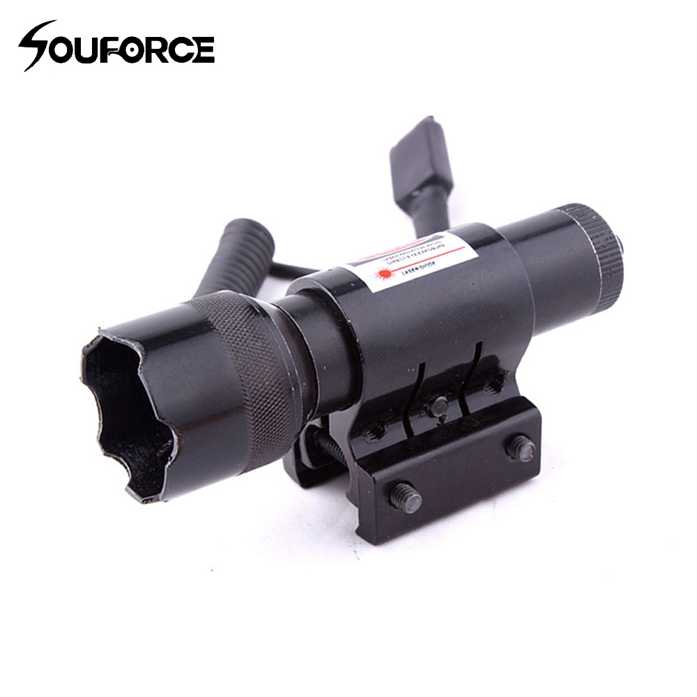 Tactical Red Dot Laser Sight With Tail Switch Hunting Riflescope Laser for 20mm Picatinny Rail