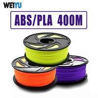 ABS/PLA Пластиковые Нити для 3d принтера/ручки 400 м 1 рулон 1 кг нити ABS пластиковые принадлежности для 3 d принтера PLA печатные материалы