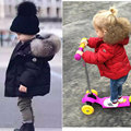 European and American style winter infant coat baby cotton padded coat boys cotton wadded jacket girls red boys black