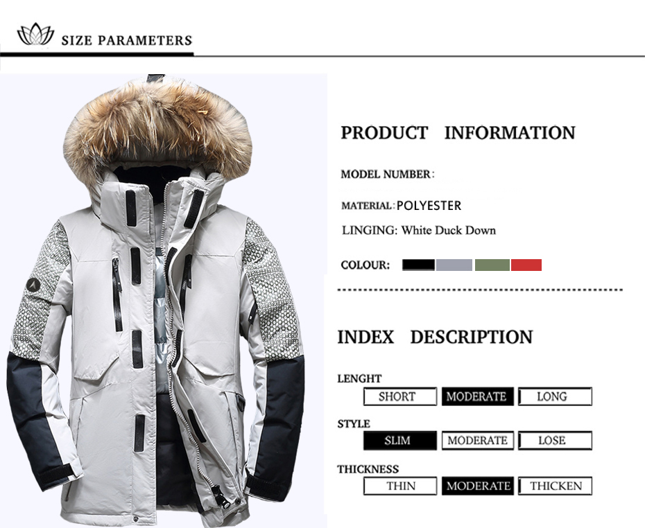 Holyrising Winter Male Duck Down Jacket Thick Men Fashion Hooded ... 2b74be61f