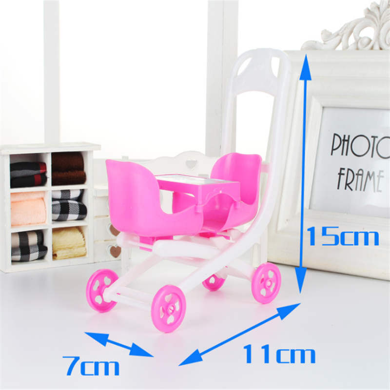 AOSST lols dolls Baby stroller toys and other dolls toys 2 seats stroller toys for loles dolls in Dolls Accessories from Toys Hobbies