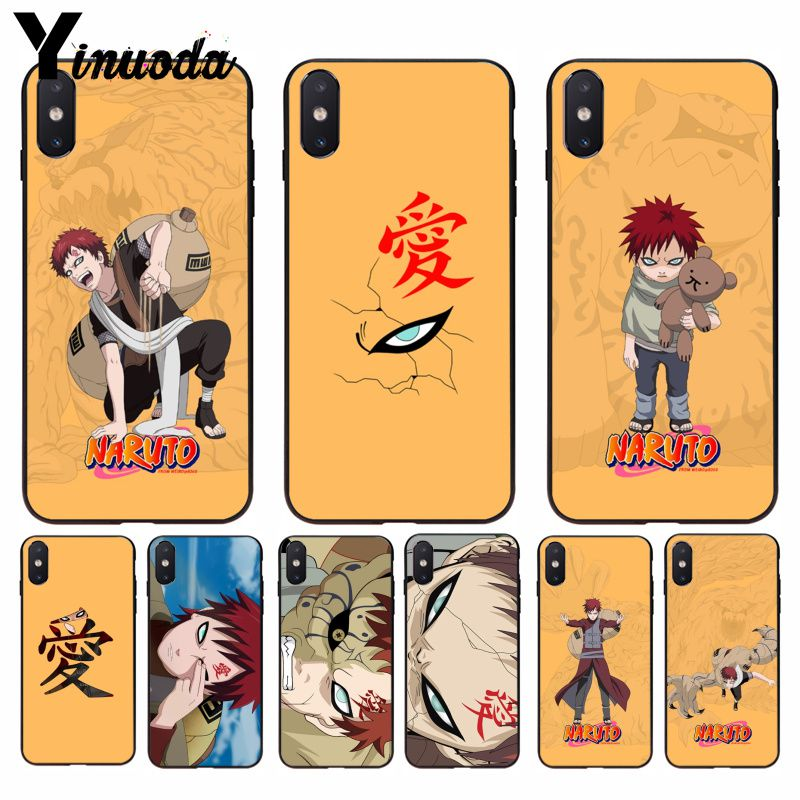 Cellphones & Telecommunications Initiative Yinuoda Naruto Gaara Ultrathin Novelty Fundas Phone Case Cover For Apple Iphone 8 7 6 6s Plus X Xs Max 5 5s Se Xr Cellphones Half-wrapped Case