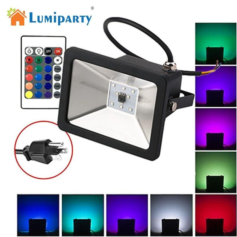 LumiParty 10W Colourful Project Lamp with Remote Control Christmas Valentines Day Park KTV Decoration