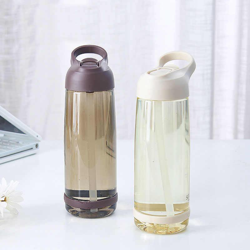 1000 мл наружная бутылка для воды с соломинкой спортивные бутылки экологичные с крышкой для пеших прогулок кемпинга Пластиковые BPA бесплатно H1098