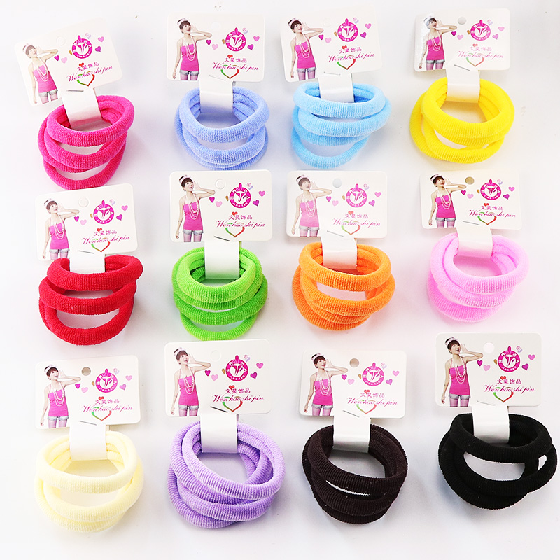 4PCS/Lot New Kid Elastic Hair Rubber Band Colorful Solid Hair Rope Little Girls Headband Children Gift Hairband Hair Accessories hot sale hair accessories headband styling tools acessorios hair band hair ring wholesale hair rope