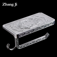 Concise Paper Holder Stainless Steel Silver Toilet Paper Holder With Phone Shelf Toalete Paper Holder Wc