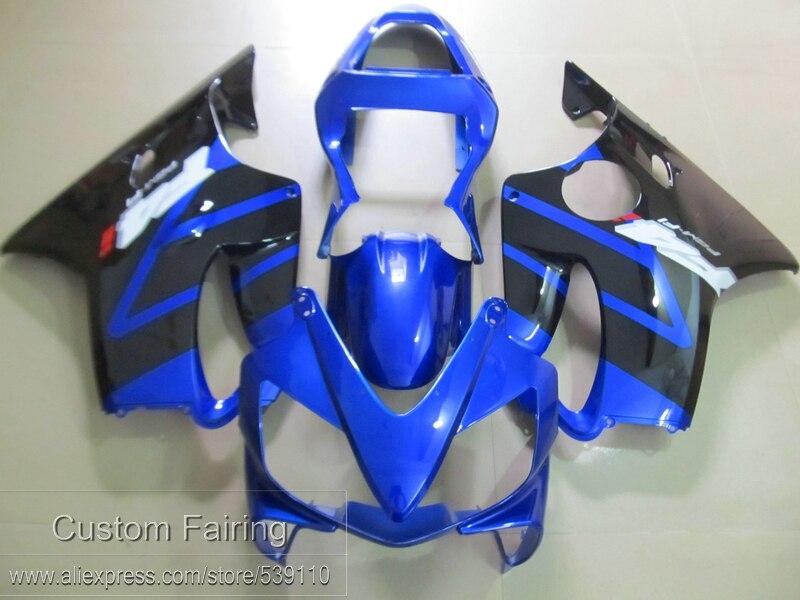 New hot injection moule carénage kit pour Honda CBR600 F4I 01 02 03 bleu noir carénages CBR600 F4I 2001-2003 SD04