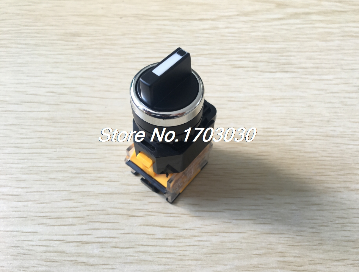 AC 380V 10A 22mm Threaded NO NC 3 Position Rotary Selector Push Button Switch 660v ui 10a ith 8 terminals rotary cam universal changeover combination switch