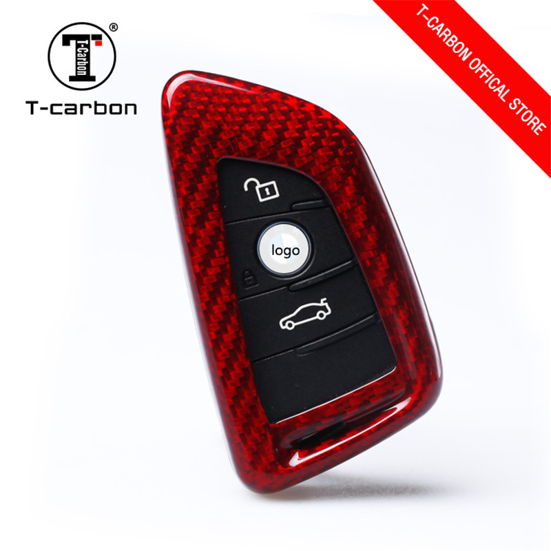 Car Key Case For BMW 1 2 3 4 5 6 7 Series X1 X3 X4 X5 X6 F30 F34 F10 F07 F20 G30 F15 F16 Car Key Cover 100% Carbon Fiber