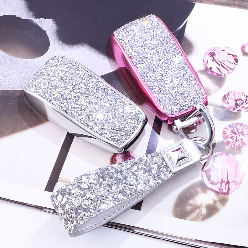 Artificial Crystal key case cover Key case protective shell holder for Mercedes Benz 2017 E Class W213 2018 S class Plastic Gift