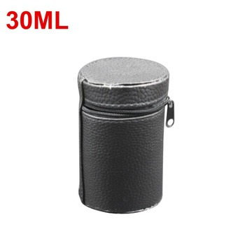 30ML Luxury Design Lightweight Soft Leather Cover for Camping Cups Mug Water Bottle Holder Carrier With Zipper taza de m&m