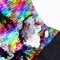 Haute qualité 130*50 cm réversible sirène poisson échelle Sequin tissu brillant Paillette tissu pour artisanat manteau robe/coussin/vêtements