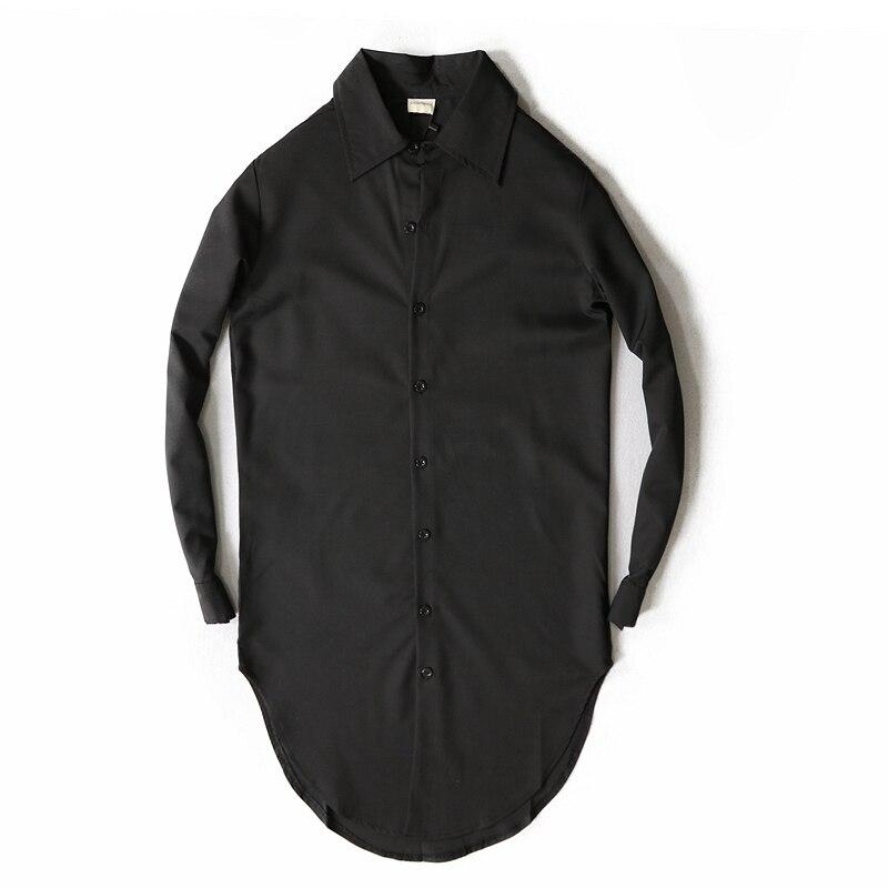 Camisa Social Masculina Camiseta весна и осень Han версия длинных мужских рубашек с длинными рукавами для женщин - Цвет: Черный