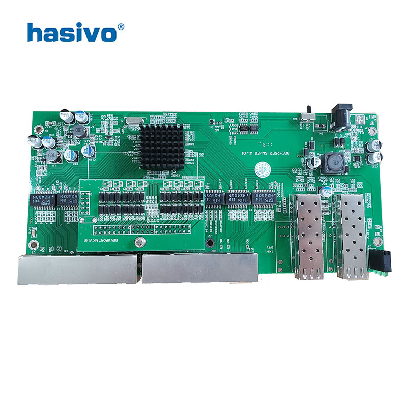 Image 4 - Reverse  PoE switch  8x10M/100M/1000M Port & 2 SFP  Gigabit Ethernet switch  PCB motherboard-in Network Switches from Computer & Office
