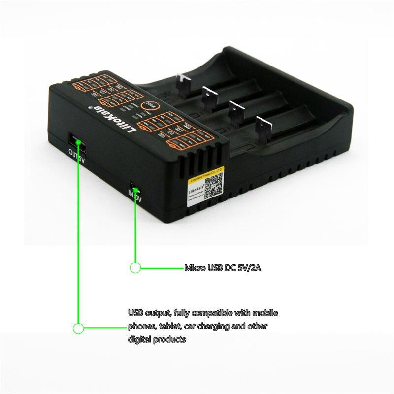 Liitokala neues angebot lii-402 18650 26650 lithium-batterie-ladegerät vier slot intelligente Ni MH lade USB mobile stromversorgung