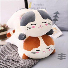 цена 60cm Cute Cats Plush Toys Down Cotton Stuffed Animal Cat Doll Toy Soft Plush Pillow Children Toy Girls Birthday Gift онлайн в 2017 году