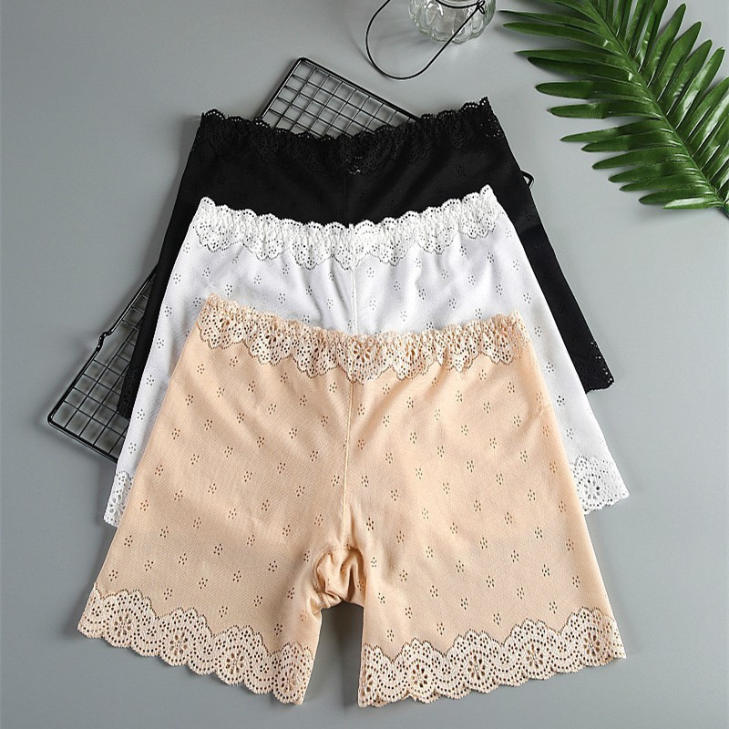 Hot Sale Safety Lace Short Pants Under Skirts For Women Comfortable Breathable Panties Universal Size Seamless Woman Underwear