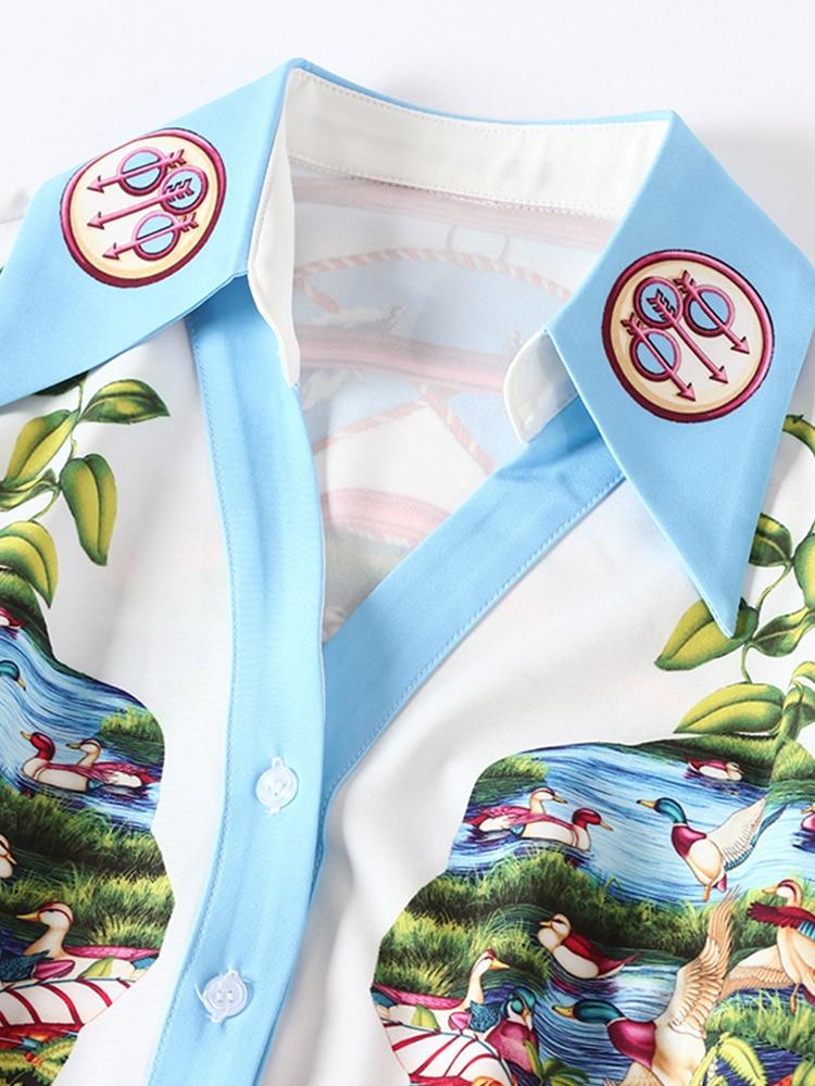 Blouse Des Blanche Roosarosee Ensemble Deux Pièces Multi Summer Longues Manches Femmes Twinset Mode Hauts Chemise Sexy Hot Imprimer Shorts À Designer Rouge Zw8xgqAq