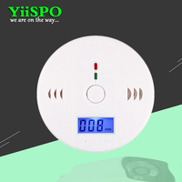 High Accuracy LCD Carbon Monoxide Detector Fire Alarm Monitor Smoke Sensor Detector For Home Security Battery