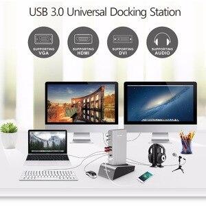 Image 5 - Nhôm Đa Năng USB 3.0 Đế Cắm Với HDD & SSD Vỏ Kép Hiển Thị Hình Ảnh Hỗ Trợ HDMI/VGA/DVI 2048*1152 Gigabit LAN