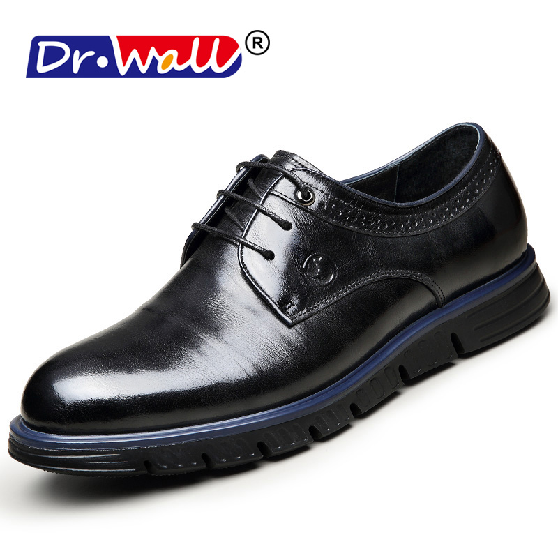 2018 Men Flats Fashion High Quality Genuine Leather Shoes Men,Lace-Up - Men's Shoes - Photo 2