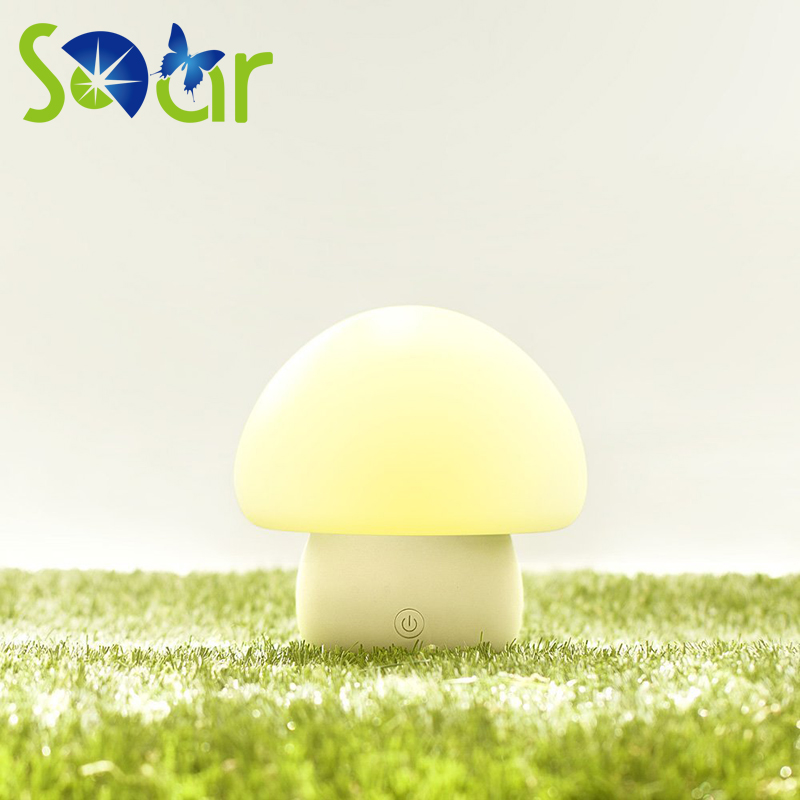 Touch Sensor Colorful 6 Color mushroom LED Children NightLight Silicone Soft Cartoon Baby Nursery Lamp Breathing LED Night Light fashion colorful ombre pot culture shape sensor led mushroom night light