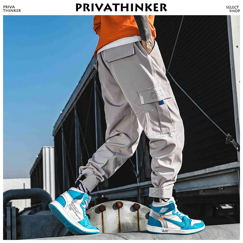 Privathinker Men Streetwear Cargo Pants Clothing 2020 Man Color Block Harem Pants Male Hip Hop Spring Joggers Pants Sweatpants