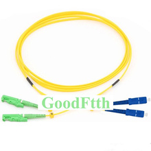 Fiber Patch Cord Jumper E2000/APC-SC/UPC SM Duplex GoodFtth 1-15m fiber patch cord jumper e2000 upc sc upc e2000 sc upc sm duplex goodftth 100 500m