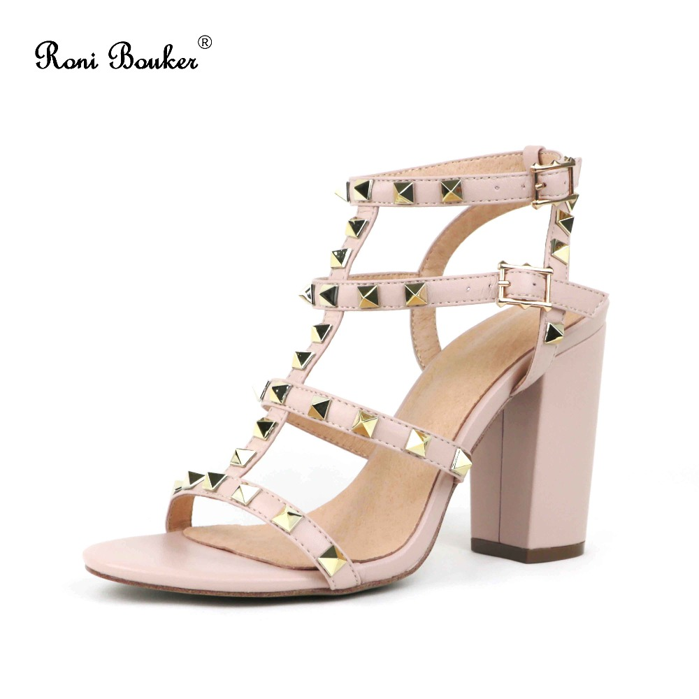 Free Shipping New Summer 2018 Lady Spikes High Heels Straps Buckle Shoes Women Studs Sandals Handmade Wholesale Dropship flyfly part ff20 10 canopy set for dg808s 4000mm wholesale price dropship free shipping