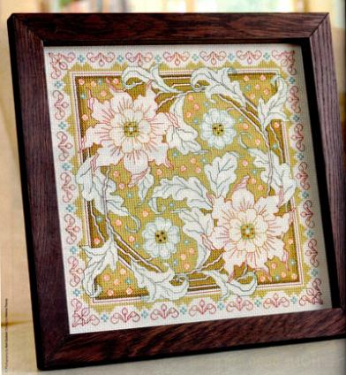 Fishxx Cross Stitch Cross198-9flowers[elegant]European Design,soluble Printing,100% Accurate Pattern,11CT,Need To Embroidery