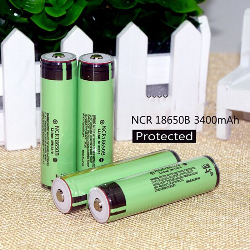 High Quality 12 pcs/Lot Protected New Arrived Original NCR18650B 3400mAh 18650 Rechargeable battery with PCB 3.7v for Panasonic