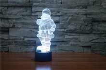 The new 7-color 3D USB creative Nightlight / LED lamp Cartoon Baby 138/ Free Shipping