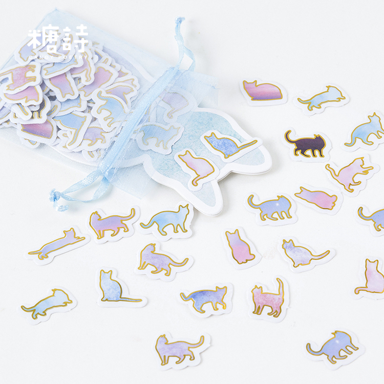 100 Pcs/bag Kawaii Cat Sticker Paper Decoration Sticker Diy Diary Album Scrapbooking Sticker Arts,crafts