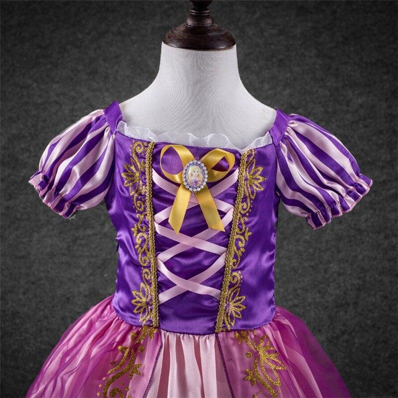 Niñas Cinderella Rapunzel princesa vestido de fiesta para niña ...