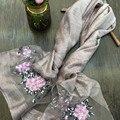 2016 Моды Ислам женщин шелковый хиджаб высокое качество вышивка Турецкая пашмины цветы шарфы головные уборы девушки cap много цветов