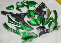 Hot Sales,Yzf600R6 06 07 fairing For Yamaha Yzf R6 2006 2007 Sport Motorcycle Green and Black Fairings (Injection molding)