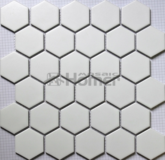 Mosaikfliesen boden  Aliexpress.com : Hexagon big weißen keramik mosaik, bad dusche ...