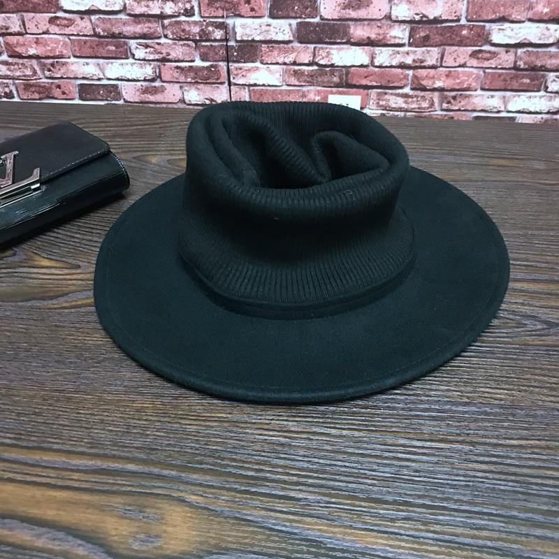 9015b3ef78ec € 29.79 |Moda gorro de lana ala grande sunbonnet sombrero de ala ancha de  producto en Sombreros de fieltro de Accesorios de ropa en AliExpress.com |  ...