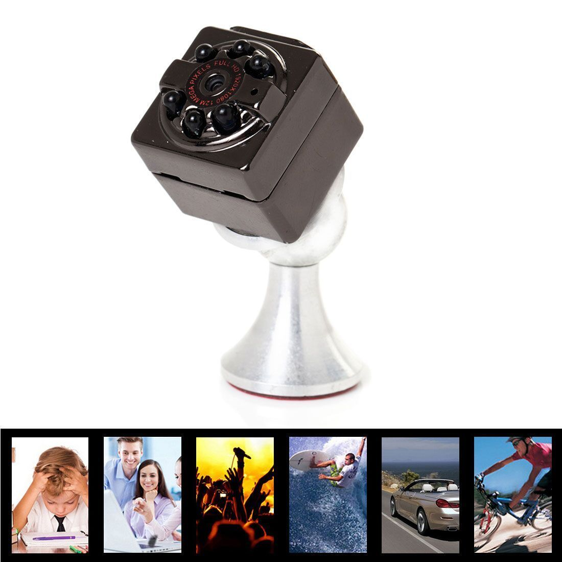 16GB Card+SQ9 Mini Full HD 1080P Camera DV Sports IR Night Vision Car DVR Video цены онлайн