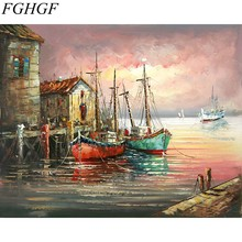FGHGF Frameless Wall Art Pictures Painting By Numbers Hand Painted On Canvas Abstract Oil Painting Landscape Home(China)
