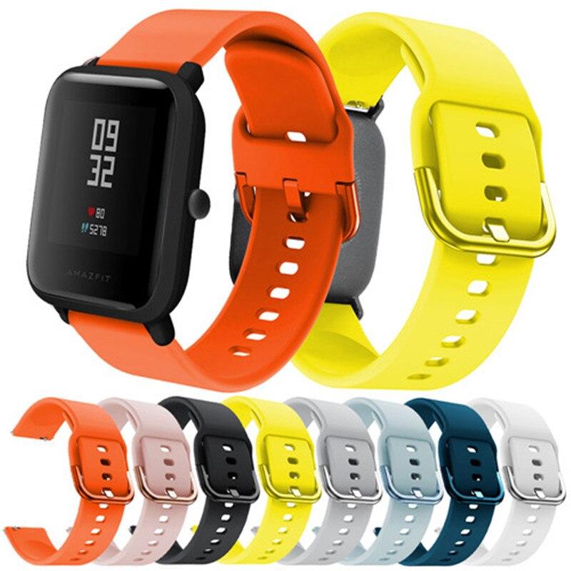 DHL 50 pièces Silicone Sangle Souple pour Xiaomi Huami Amazfit Bip PEU Lite Jeunes Montre Intelligente Bracelet de Poignet GALAXIE Bracelet 20mm-in Accessoires connectés from Electronique    1