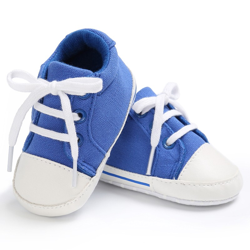 Baby Shoes Infant Toddler Pram Crib Girls Boys Fashion Spring Autumn Lace-Up Cotton Padded Soft Soled Sneakers Boots