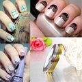10 pcs dicas Nail Art Rolls Striping linha Tape adesivos Manicure acessórios ferramentas de beleza ouro prata para escolher frete grátis